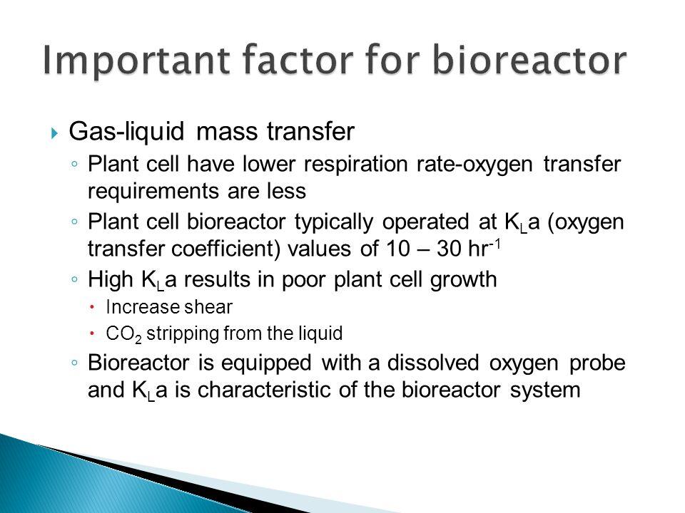 Important factor for bioreactor