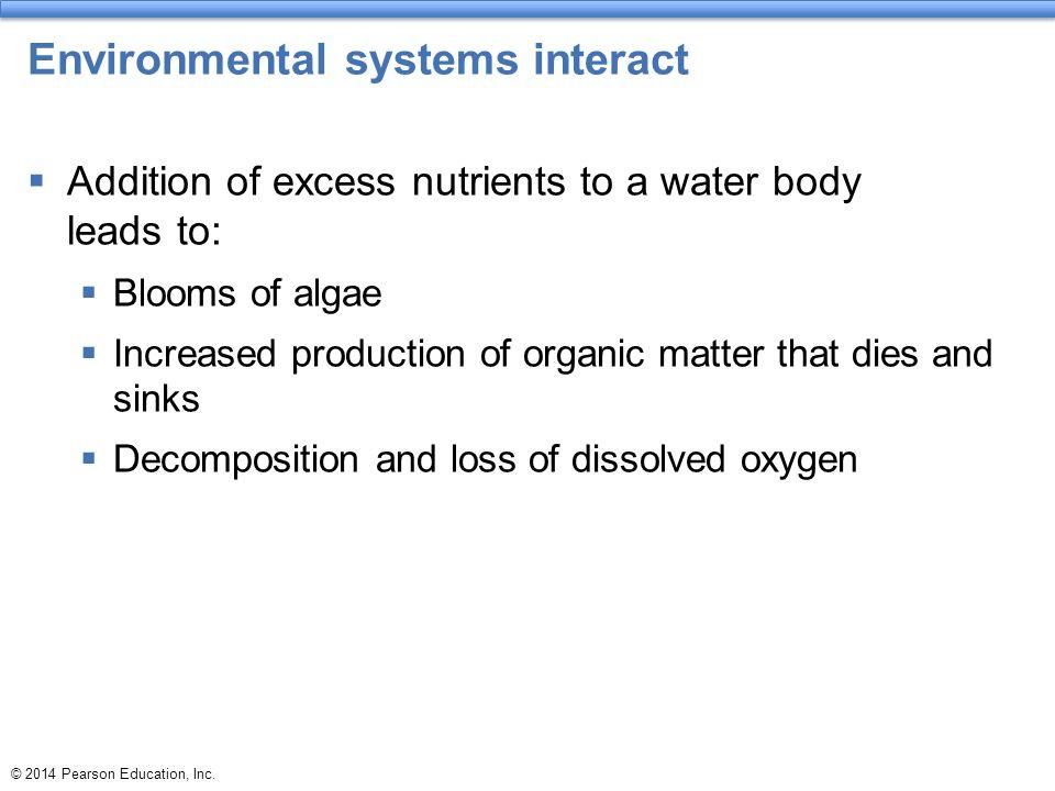 Environmental systems interact