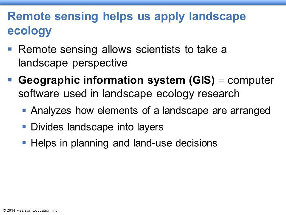 Remote sensing helps us apply landscape ecology