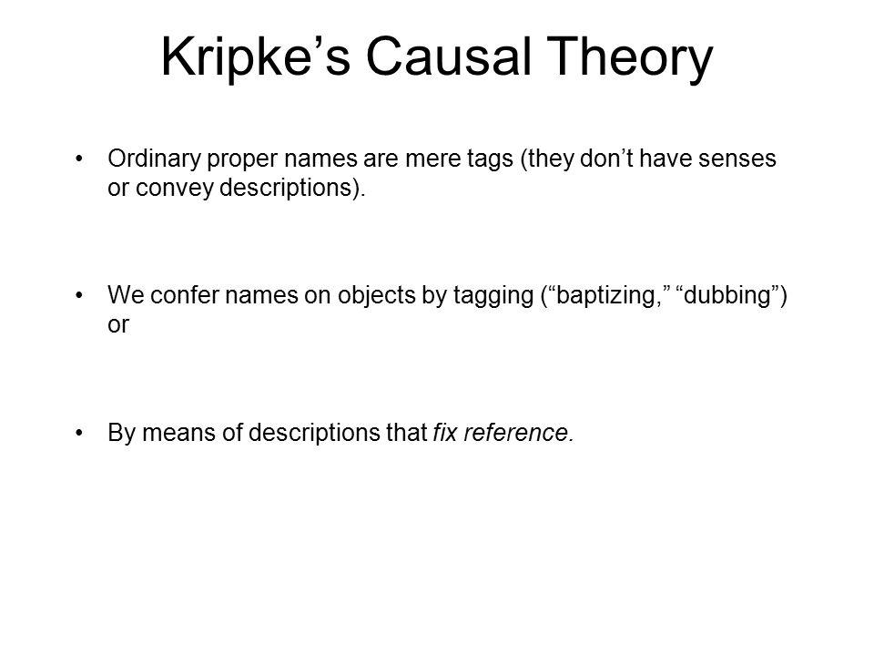 Kripke's Causal Theory