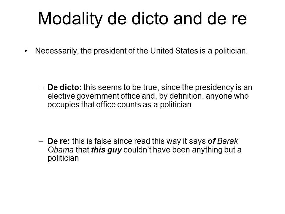 Modality de dicto and de re