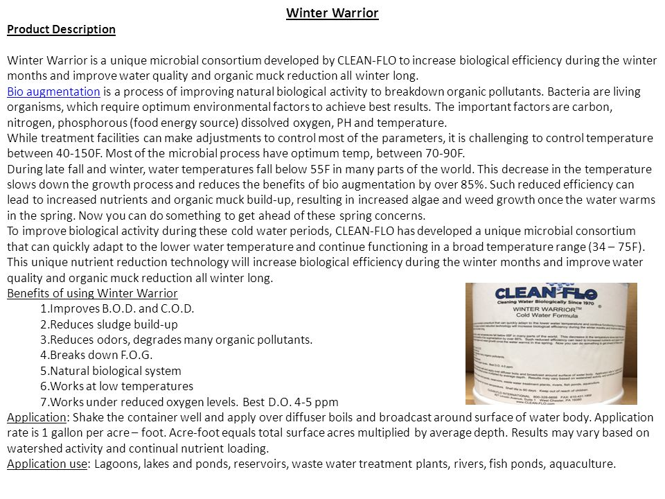 Winter Warrior Product Description