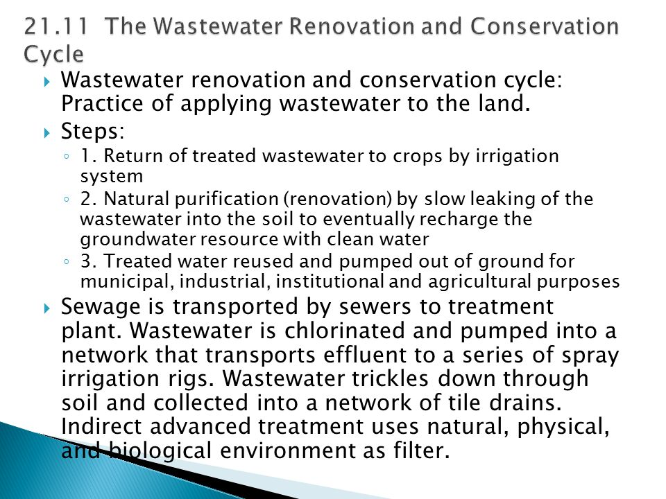 21.11 The Wastewater Renovation and Conservation Cycle