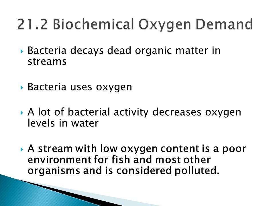 21.2 Biochemical Oxygen Demand