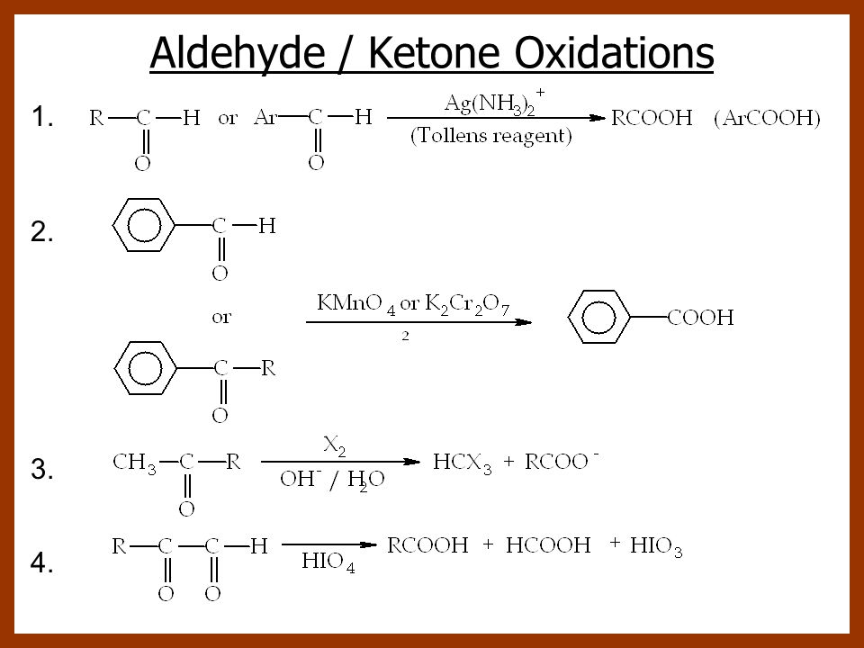 Aldehyde / Ketone Oxidations