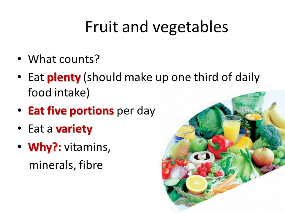 Fruit and vegetables What counts