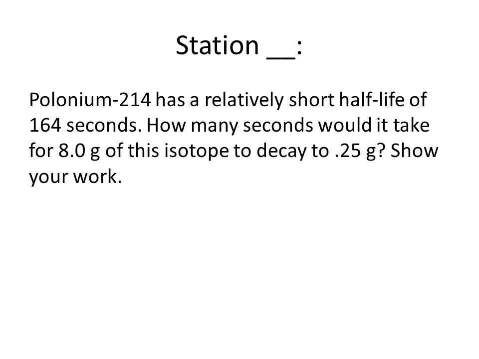 Station __: