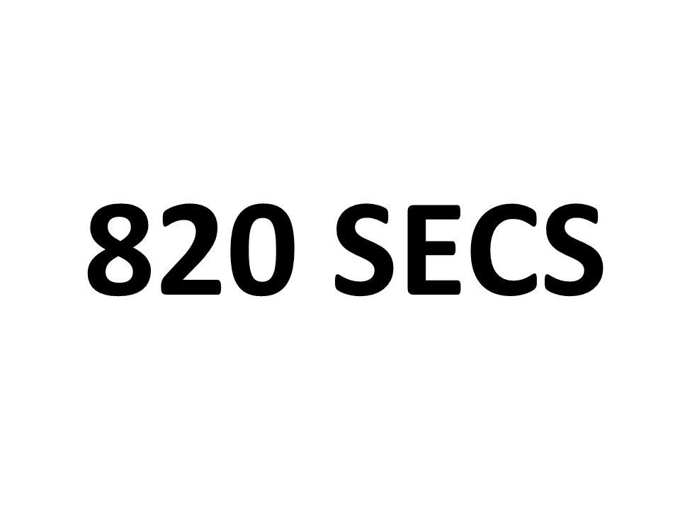 820 secs