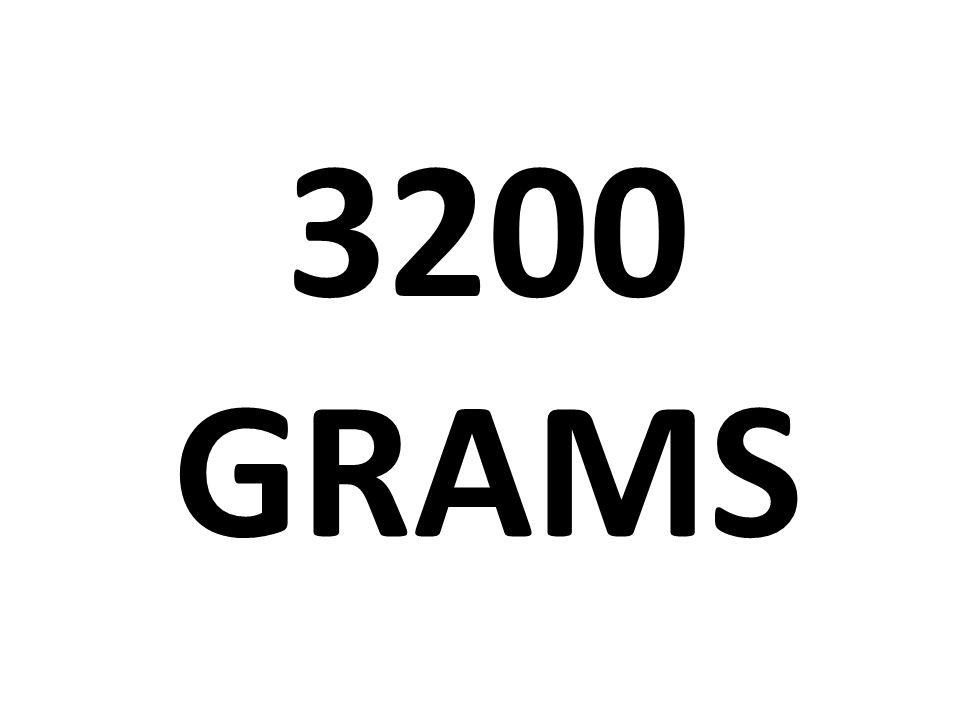 3200 grams