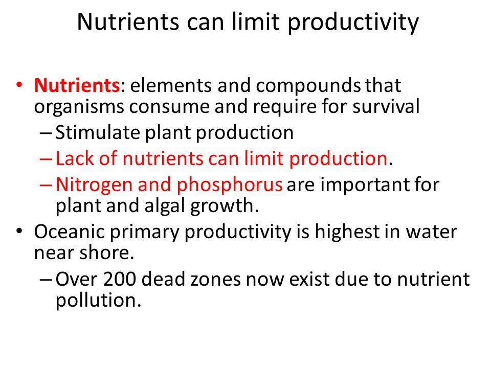 Nutrients can limit productivity