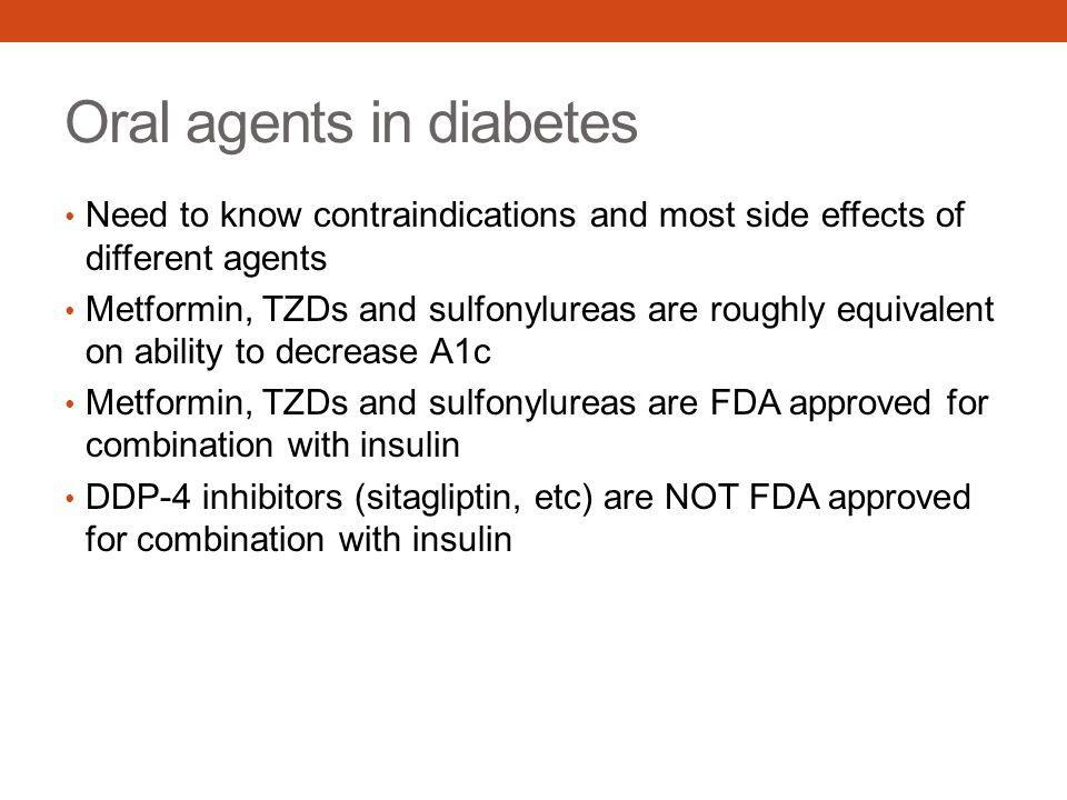 Oral agents in diabetes
