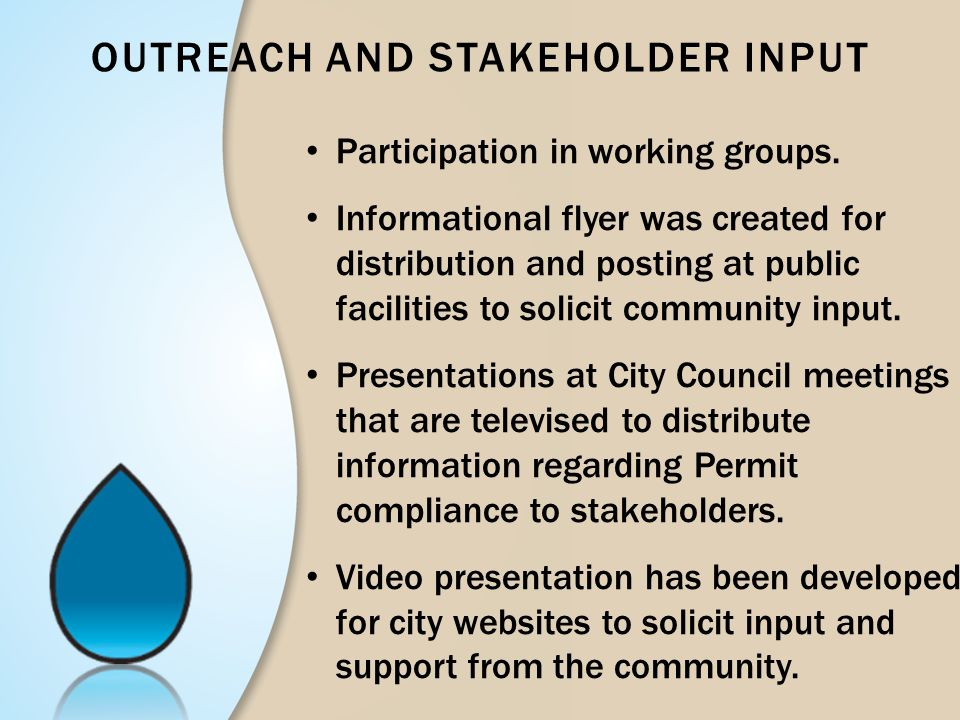 Outreach and Stakeholder Input