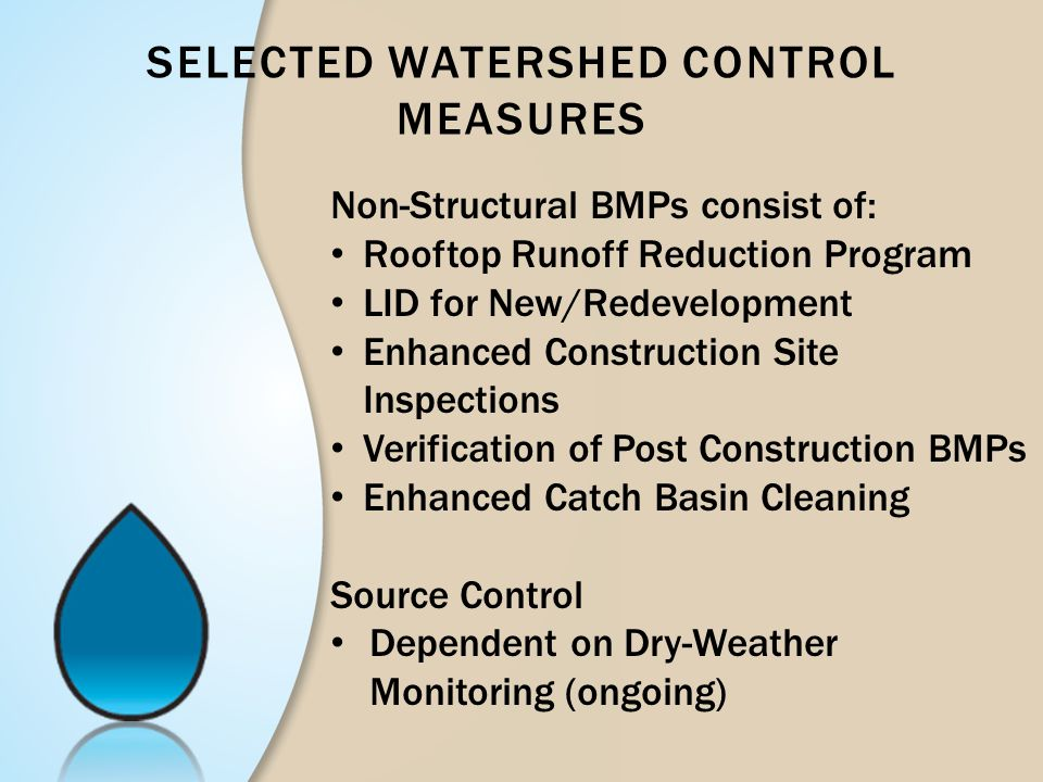 Selected Watershed Control measures