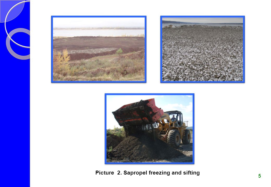 Picture 2. Sapropel freezing and sifting
