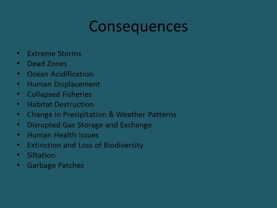 Consequences Extreme Storms Dead Zones Ocean Acidification