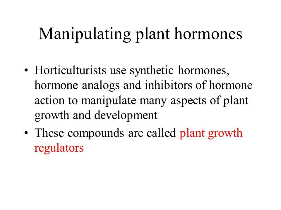Manipulating plant hormones