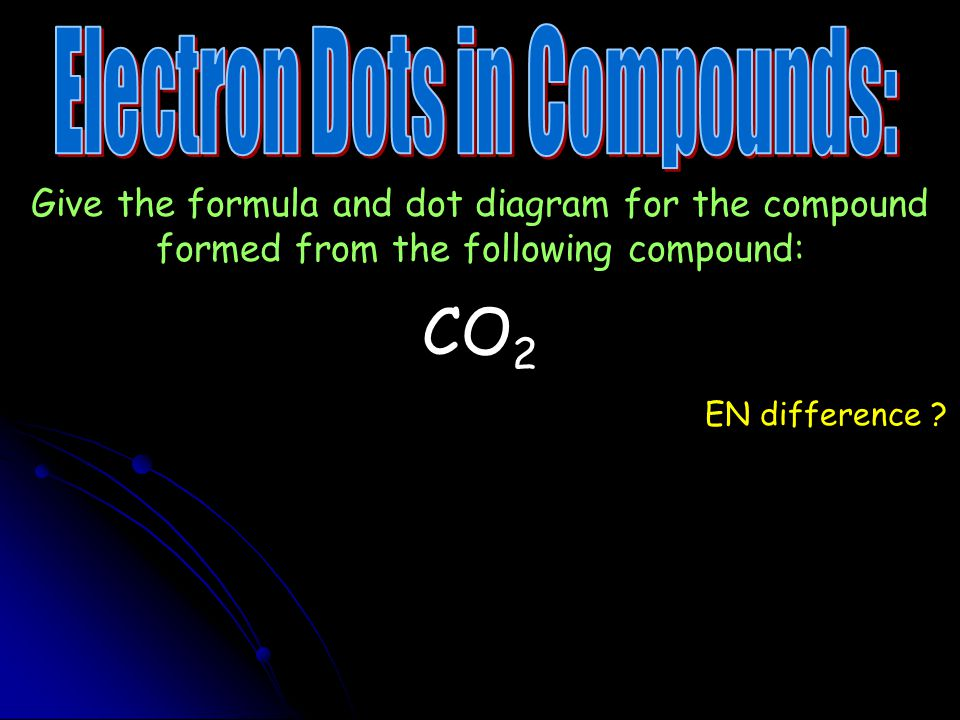 Electron Dots in Compounds:
