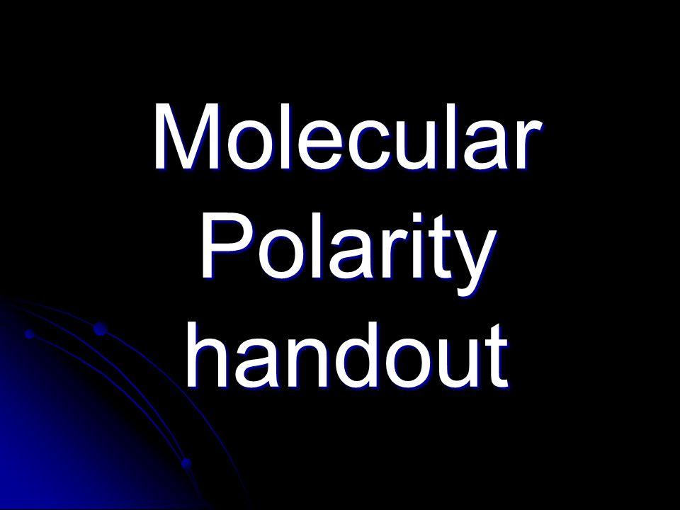 Molecular Polarity handout