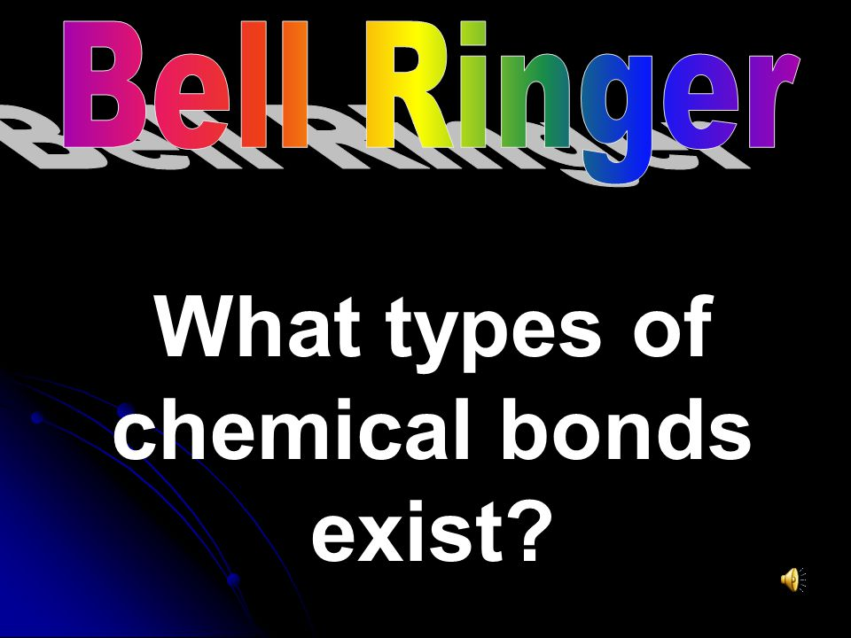 What types of chemical bonds exist