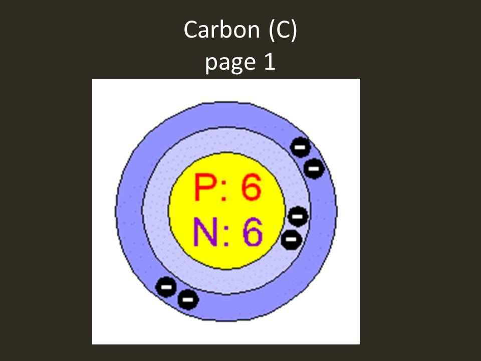 Carbon (C) page 1