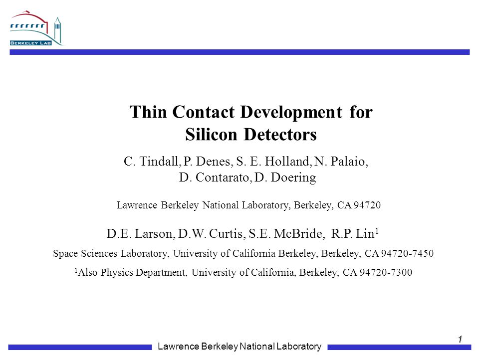 Thin Contact Development for
