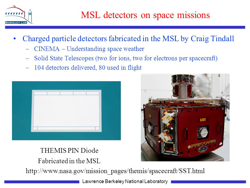 MSL detectors on space missions