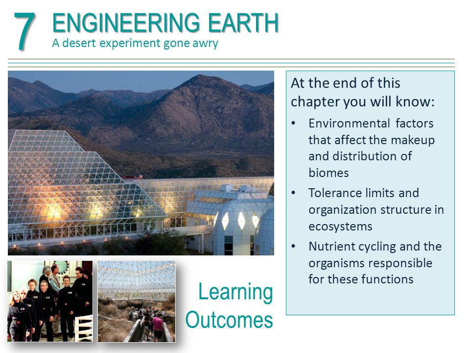 7 ENGINEERING EARTH Learning Outcomes