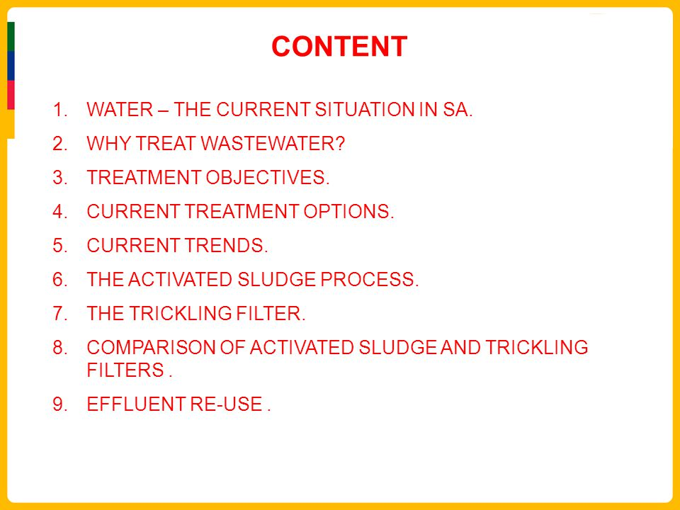 The comparison of wastewater treatment methods and their use for content water the current situation in sa why treat wastewater sciox Gallery
