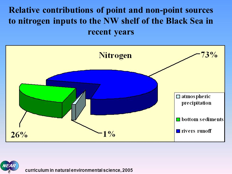Relative contributions of point and non-point sources to nitrogen inputs to the NW shelf of the Black Sea in recent years