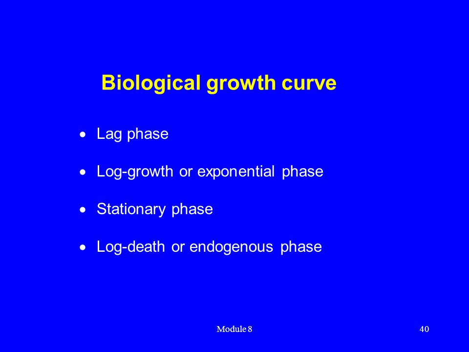 Biological growth curve