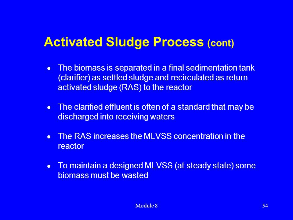 Activated Sludge Process (cont)