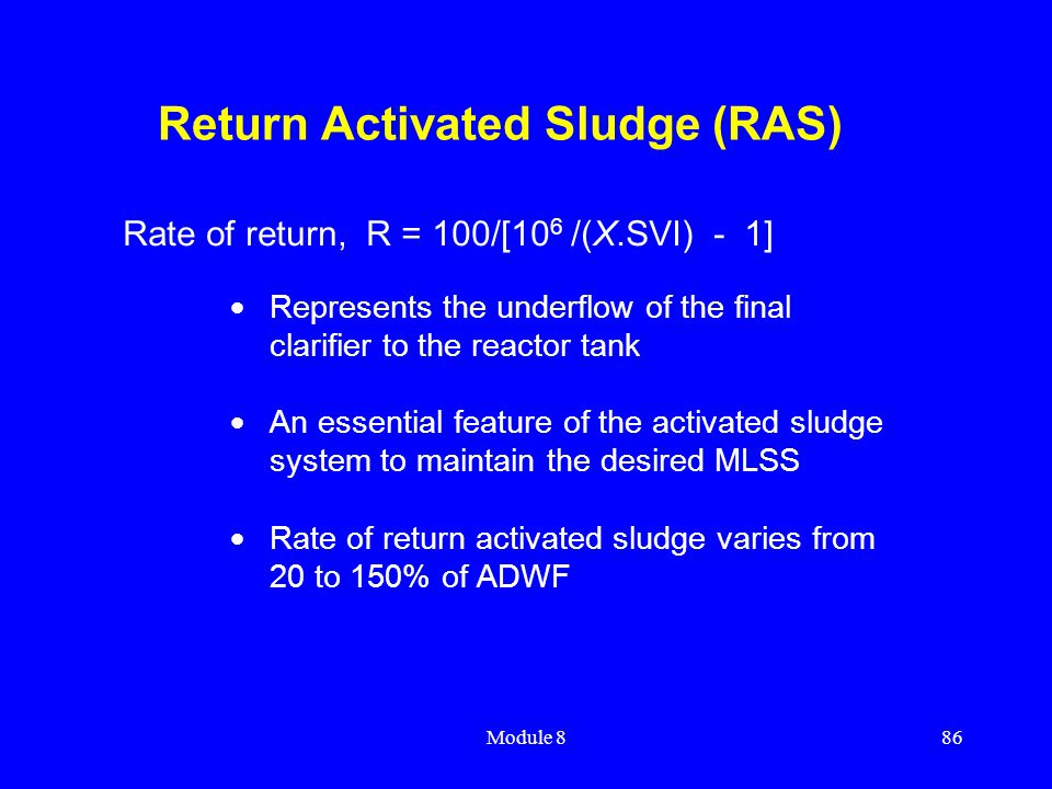 Return Activated Sludge (RAS)