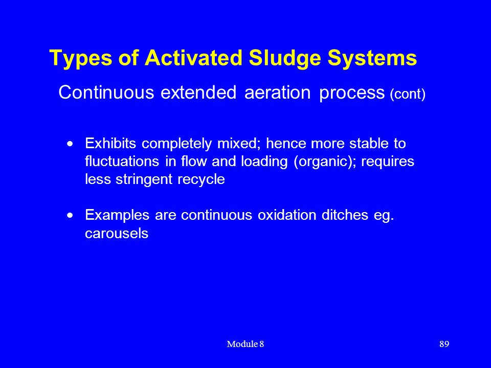 Types of Activated Sludge Systems