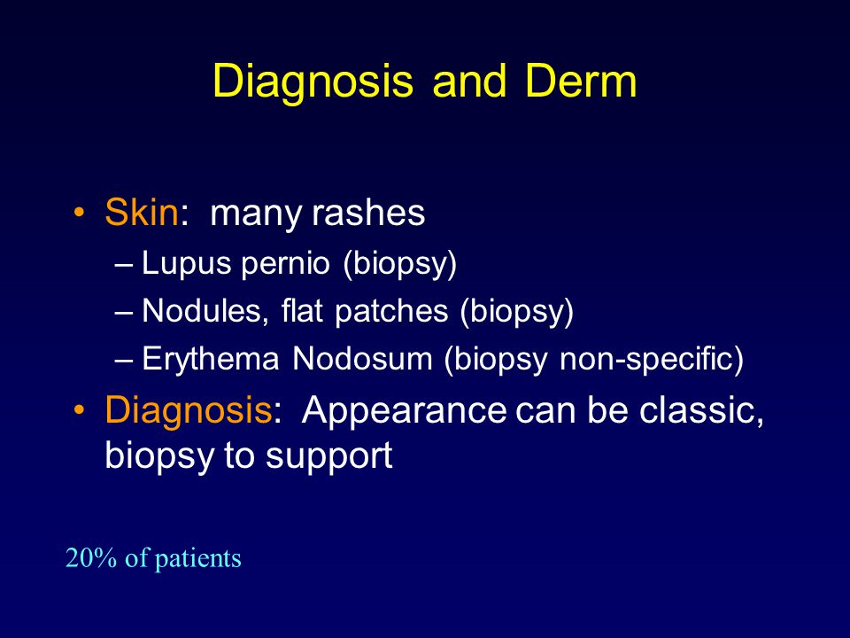 Diagnosis and Derm Skin: many rashes