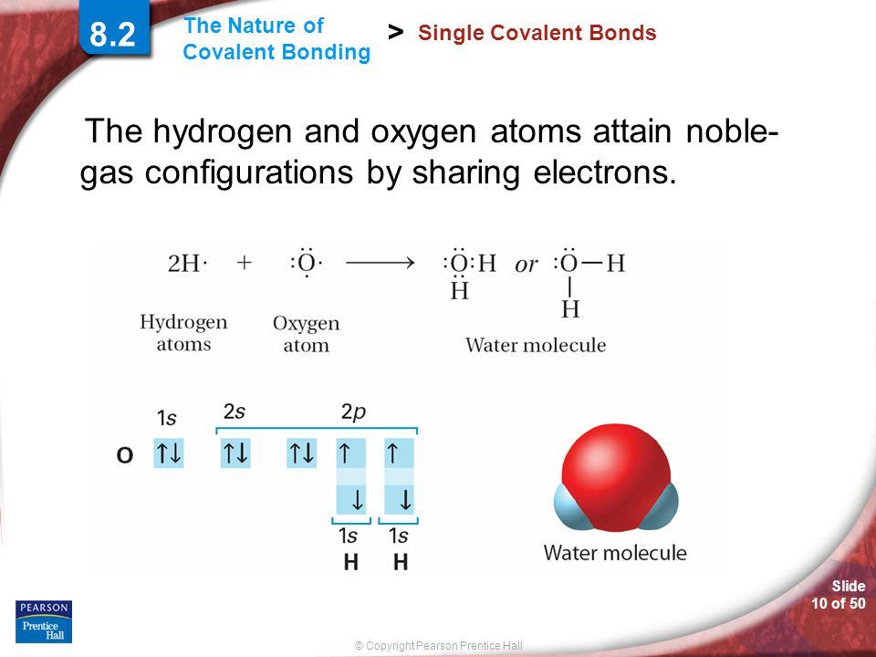 8.2 Single Covalent Bonds.