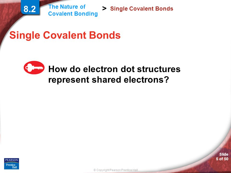 8.2 Single Covalent Bonds. Single Covalent Bonds.