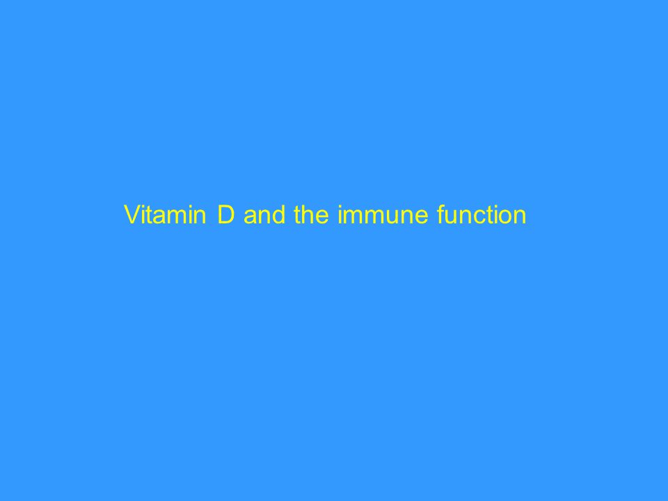 Vitamin D and the immune function
