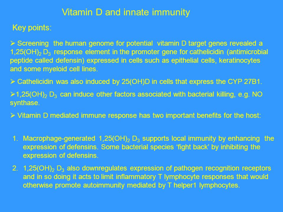 Vitamin D and innate immunity