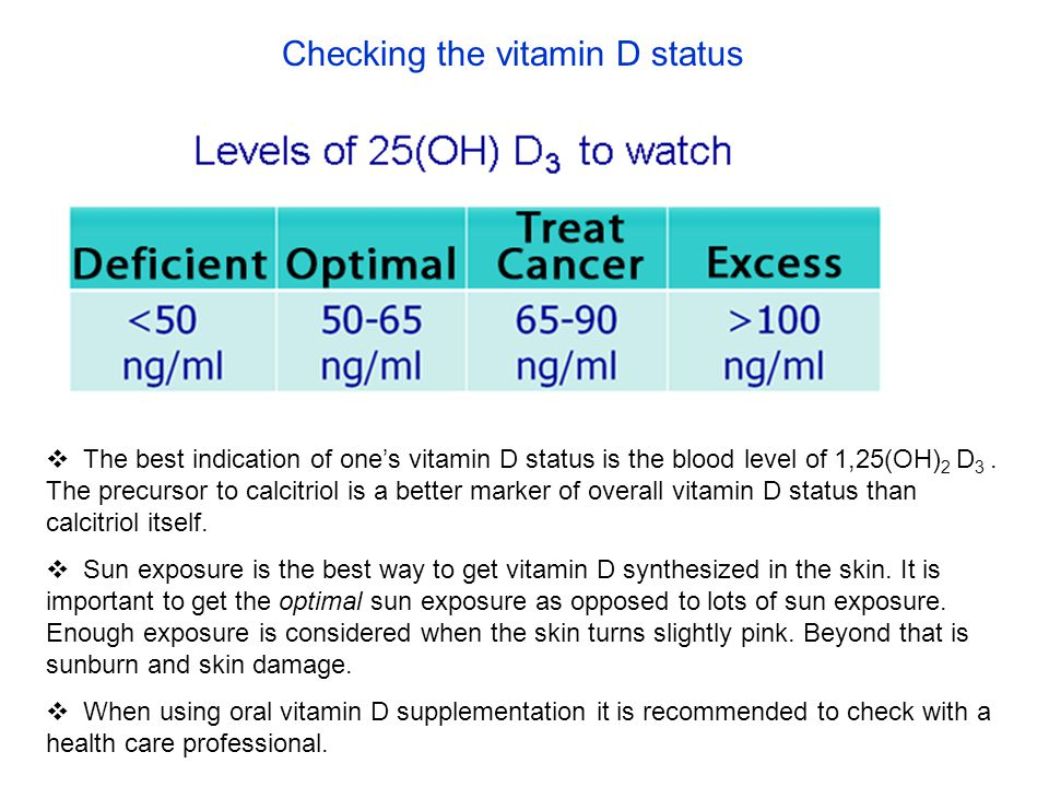 Checking the vitamin D status