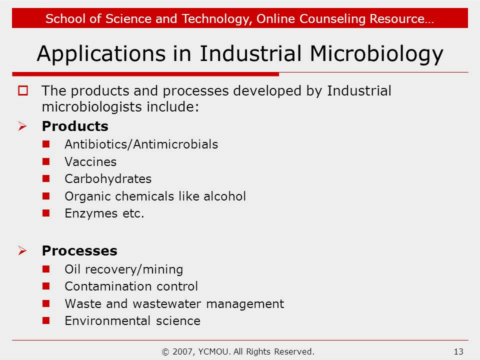 Applications in Industrial Microbiology