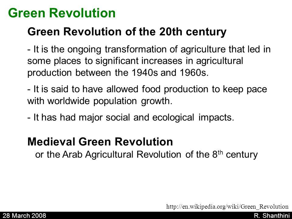 Green Revolution Green Revolution of the 20th century