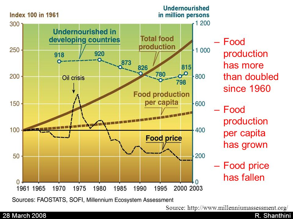 Food production has more than doubled since 1960