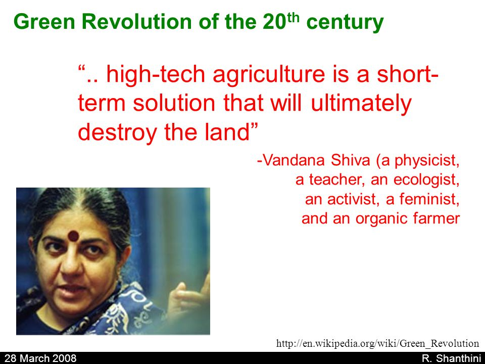 Green Revolution of the 20th century