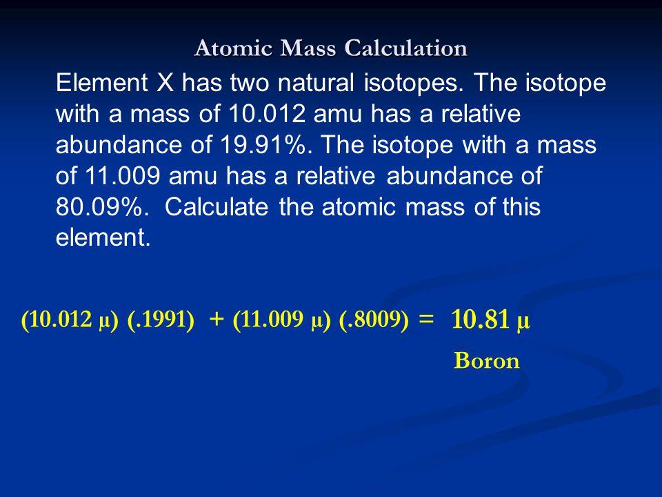 Atomic Mass Calculation