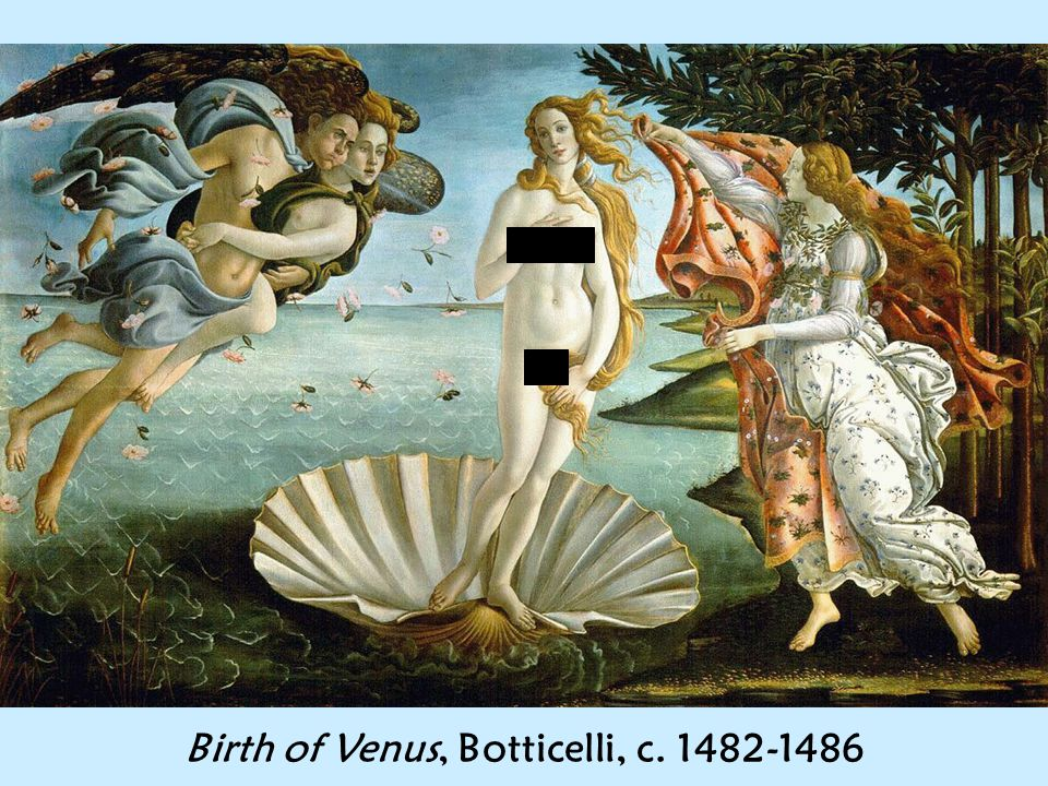 Birth of Venus, Botticelli, c
