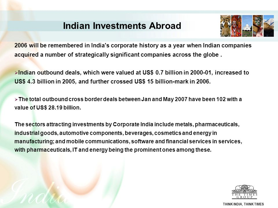 Indian Investments Abroad