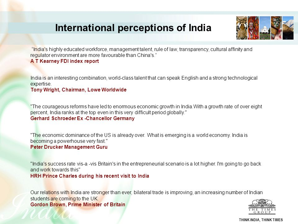 International perceptions of India