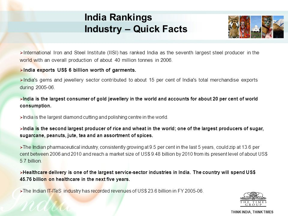 India Rankings Industry – Quick Facts