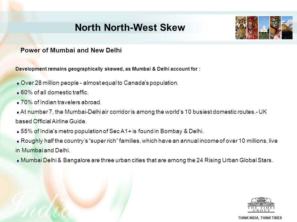 North North-West Skew Power of Mumbai and New Delhi