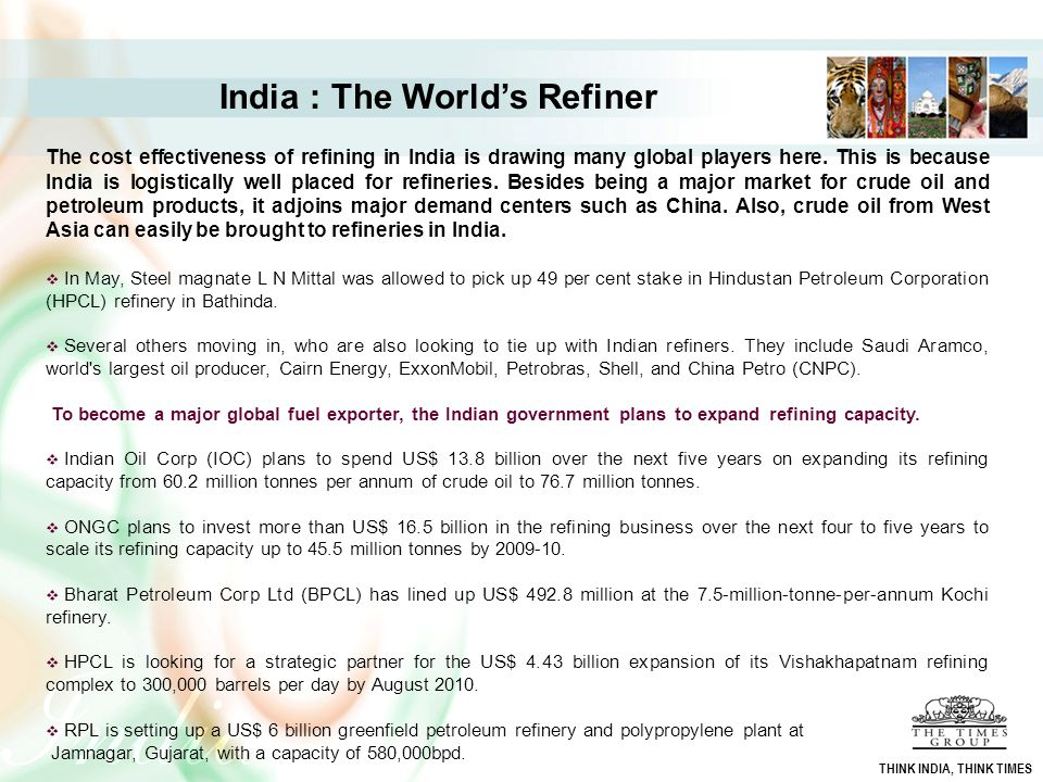 India : The World's Refiner